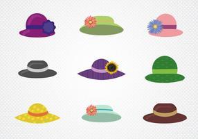 Vector colorido de chapéu de senhoras coloridas