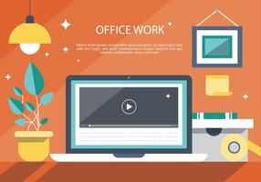 Fundo moderno do vetor do interior do escritório moderno