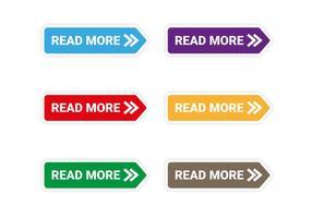 Livre ler mais vetor de ícones