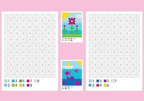 Páginas de colorir com soluções vetor