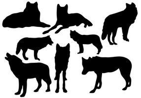 Vetor selvagem da silhueta do lobo