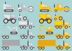 Veículos de construção vetor