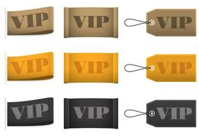 Vetores de etiquetas VIP