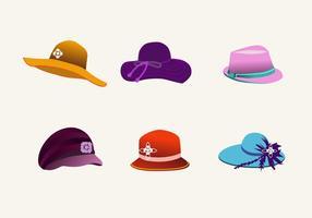 Vetor bonés dos chapéus