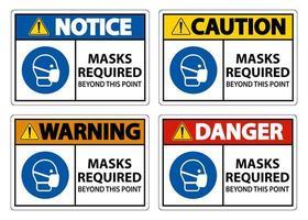 máscaras necessárias além deste ponto sinais vetor