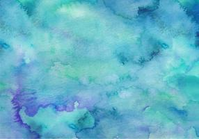 Fundo de aquarela de vetor Free Teal