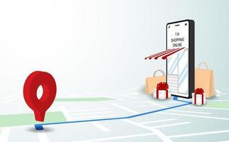 compre entrega on-line no mapa