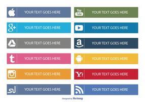 Ícones de botões de mídia social