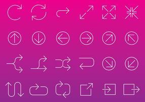 Vetores de ícones de seta de linha