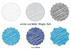 Conjunto de Formas de Scribble divertidas vetor