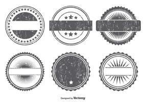 Conjunto de formas de emblema de Grunge vetor