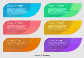 Banners coloridos de vetores abstratos