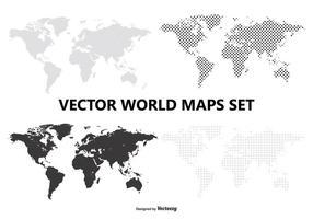 Conjunto de mapas do mundo vetorial vetor