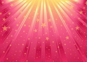 Fundo abstrato cor-de-rosa do vetor com estrelas