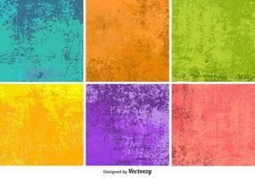 Texturas coloridas de vetores de grunge