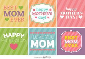 Feliz Dia das Mães Banners / Fundos vetor