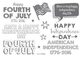 Rótulos tipográficos lindos da boca de julho vetor