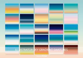 Lindos padrões de gradiente de céu ilustrador vetor