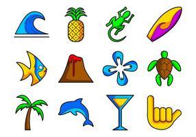 Vetor de ícones do Havaí