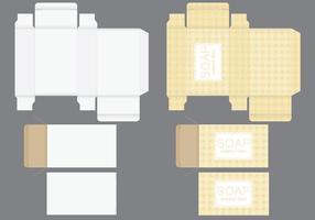 Modelo de caixa de sabão vetor