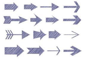 Sketchy Pen Style Arrows vetor