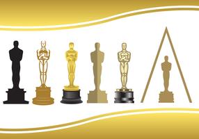 Vector de estátua de Oscar grátis