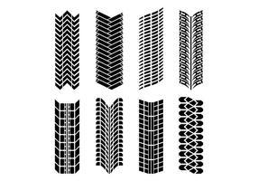 Conjunto de vetores de marca de pneu