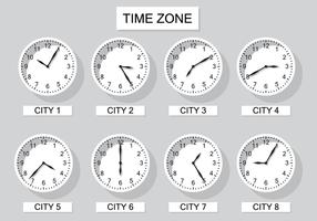 Vetor de relógio do fuso horário livre