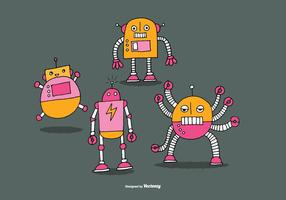 Vetores de robô fofos
