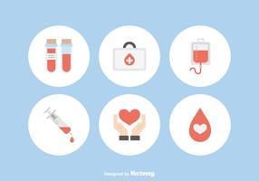 Ícones livres do vetor da doação de sangue