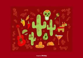 Vectores de elementos mexicanos vetor