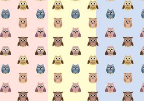 Vetor de padrão de coruja livre