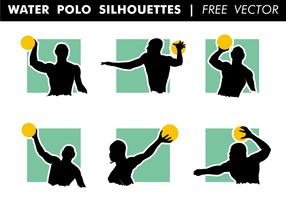 Water polo silhouettes vector grátis