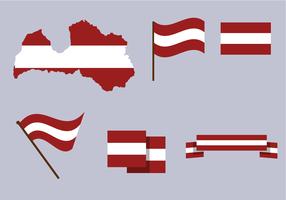 Vector livre do mapa da Letónia