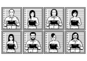 Ilustração vetorial do Mugshot vetor
