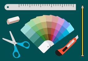 Ferramentas de impressão de amostras de cores vetor