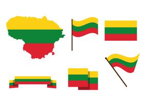 Livre vetor do mapa da Lituânia