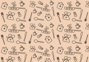 Vector de padrões de cozinha grátis