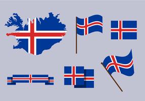 Vector grátis do mapa da Islândia