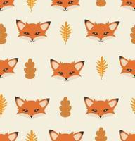 padrão de elementos de raposa vetor