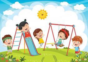crianças brincando no playground