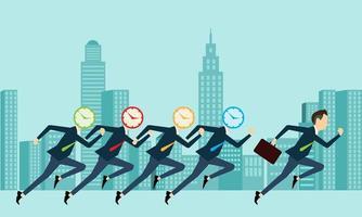 concorrência de pessoas de negócios com o tempo