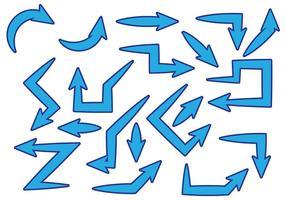 Vetor flechas azul grátis
