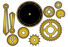 Vetor de peças de relógio livre