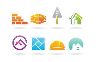 Logotipos de pedreiro vetor