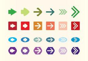 Conjunto de flechas flechas de vetores