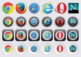 Logos do navegador da Web vetor