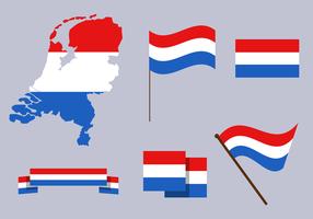 Livre o vetor do mapa dos Países Baixos