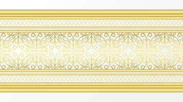 borda decorativa dourada vetor