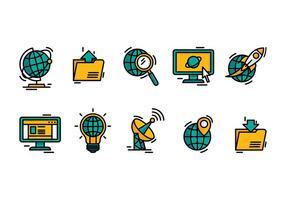 Vetor de ícone de internet explorer